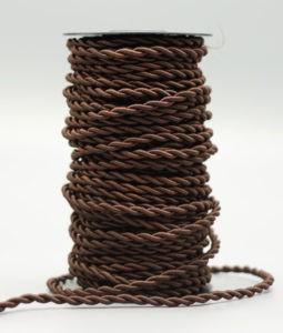 Brun textilsladd i tvinnad stil