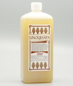 flaska med 1 liter linoljesåpa