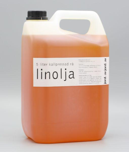 5 liters dunk av rå linolja från av jord