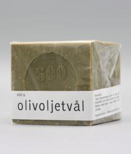 600 gram olivoljetvål inpackad i plast för transport
