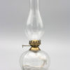Elisabeth klarglas fotogenlampa oljelampa med mässing