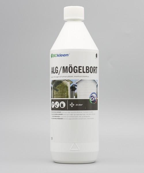 Vit plaska med alg och mögelbort. 1 liter.