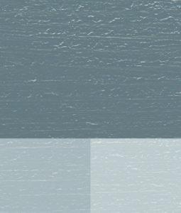 Öjablå kulörprov med 3 nyanser blandat med titan zink